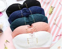 Wholesale Lace Strapless Gathered - Fashion Lady Wire Free Strapless Bra Invisible Sexy Chest Paste Lace Back Slip Gather Summer Autumn Underwear