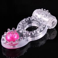 Wholesale Mens Condom - Mens Cock Vibration Condom Ring Vibrator Massage Male Penis Rings Adult Sex Aid Toys