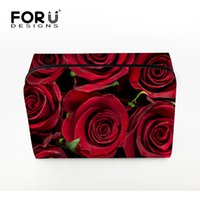 3d Printing Flower Women Makeup Bags Red Rose Cosméticos Case for Travel Senhoras Grandes Make Up Bag Pouchs Toiletry Organizer Clear