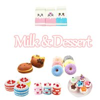 Wholesale Dessert Toys - Milk&Dessert Shape Soft Toys 9 Styles Squishies Jumbo Slow 9~13cm Montessori Edu Gadget Birthday Gifts Items for Kids