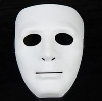 Wholesale Street Dance Costumes - 5 Colors Hip Hop Street Dance Mask Adult Men's Full Face Party Mask Costume Masquerade Ball Plastic Plain Thick Masks CCA7258 1000pcs