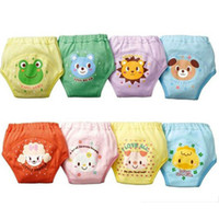 Wholesale Wholesale Baby Cloth Training Pants - 4 layers cartoon baby training pants cloth diapers waterproof potty training pants toddler newborn underwear Washable Reusable
