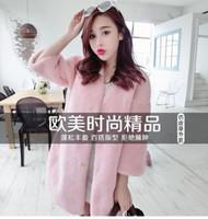 Wholesale Korea Jacket Faux - 2016 Zmario Winter New Style Women's Thicken Fleece Faux Fur Coat Fashion Korea Style Fur Jacket