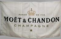 ingrosso bandiera di alta qualità-Banner personalizzato bandiera bianca per Moet Chandon Champagne 3x5 ft poliestere Banner Bar di alta qualità