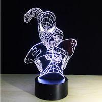 Wholesale Man Novelty Night Lights - 2016 Spider-Man Led Night Light Creative 3D Decorative Lights Novelty Gift Lamp Living Room Lights