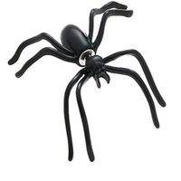 Wholesale Spider Clip - halloween Black Spider Earrings for Women kids Punk Hyperbole Animal Mini Stud Earrings Fashion Jewelry free fast shipping