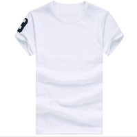 Wholesale casual white shirts for men - Free shipping 2016 High quality cotton new O-neck short sleeve t-shirt brand men T-shirts casual style for sport men T-shirts