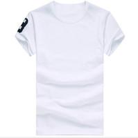 camisa de algodón para hombre estilo al por mayor-Envío gratis 2016 de algodón de Alta calidad nueva O-cuello de manga corta camiseta de la marca de los hombres camisetas de estilo casual para los hombres del deporte T-shirts