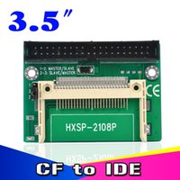 "Wholesale Ide Flash Adapter - CF to IDE Compact Flash Card Adapter Bootable 40pin CF to IDE 3.5"" HDD Hard Drive Converter Adaptor 3.5 inch Male Connector"