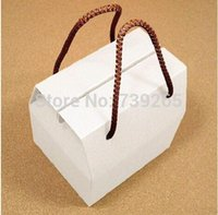 Wholesale Low Prices Wholesale Apparel - Retail 10pcs lot Lowest Price 350G Carboard Made White Hand-held Cake Box  Gift Box No Printing