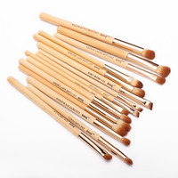 Wholesale beauty buffer - Jessup Brand 15pcs Beauty Bamboo Professional Makeup Brushes Set Make Up Brush Tools Kit Eye Shader Liner Crease Definer Buffer