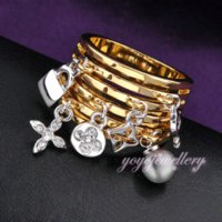 perlenringe großhandel-Schlüssel-und Verschluss-Ring-Perle schmückt Antik 18K Gelb Gold Farbe Mode Ringe für Frauen Geschenk Schmuck R317