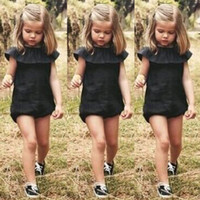 Wholesale Beautiful Lanyards - Girl dress Clothes Lanyard Beautiful Fashion Casual Baby Girls Kids Clothes Romper Playsuit Jumpersuit Outfit Sunsuit