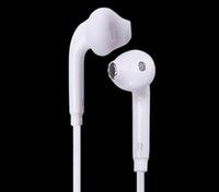 Wholesale Earphone Mm Plug - For Samsung Galaxy S7 edge Note 7 Phone Earphone 3.5 mm Plug In-Ear Stereo Headphones Headset with Mic and Remote Contral