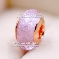 Wholesale Love Rose Flower Glass - 2017 NEW Rose Gold Pink Faceted Murano Glass charms Beads Fit European pandora DIY Bracelets & Necklace