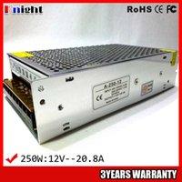 12v eingang led-lichtstreifen großhandel-Großhandel 250W 20A 12V Netzteil für LED-Lichtleiste AC90-265V Eingangsspannung, LED-Netzteil flexible Streifen 250W