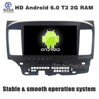 Wholesale Mitsubishi Car Stereo Gps - 10.1 inch HD Android 6.0 for Mitsubishi Lancer 2008-2015 car dvd player with GPS 3G 4G WIFI Radio Stereo Navigation SWC mirror link free map