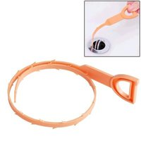 Wholesale Drain Cleaning Snakes - Bathroom Toilet Kitchen Plastic Snake Shaped Sink Cleaner Remover Clogged Hair Drain Pipe Sewer Hook Clean Tool
