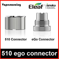 Wholesale Eletronic Cigarette Ego - eleaf 510 connector eGo connector 100% authentic eletronic cigarette fit eleaf istick 20w battery mini istick 10w DHL