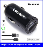 Wholesale 5v 12v Power Input - Car charger USB Input 12V 24V Output 5V 2A for Phone Power Bank Tronsmart USB Car Charger Smart VoltIQ Tech PCT005
