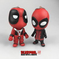 Wholesale Marvel Accessories Wholesale - New Deadpool 3.54inch Super Hero Action Figures Keychain PVC hollow Soft MARVEL X- Men's Deadpool Pendnt Free shipping E992