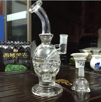 Wholesale Blown Glass Egg - Clear color glass bong grace glass bong glass recycler oil rig water pipe dabs blow glass bong fab egg 8 inch glass bong