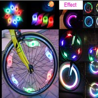 Wholesale Bicycle Party Decorations - LED Effects for Bike Bicycle Motorcycle Colorful LED Wheel Lights Decoration High Bright Wind and Fire Wheels Lamp