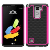 Wholesale Style Power Wallet - Football Rugged ballistic Impact Combo PC+silicone Case COVER for LG Stylus LS770 Stylus 2 LS775 X Style X Power HTC bolt ONE PLUS 3 10pc