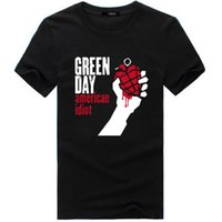 Wholesale Famous Animal Pictures - Wholesale- 2017 summer design Man Tshirt Famous band Green Day printed Tops&Tees T shirt Rock Hip Hop T shirt fashion picture