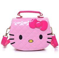Wholesale Woman Kitty - New Cute Mini Bag Children Hello Kitty Handbag For Women Cartoon Cat PU Waterproof Should Bag Kids Girls Fashion Messenger Bags