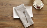 Wholesale DHL Simplicity Solid Table Napkin Janpanese Style Table Place mat Solid Color Western style Food Cotton Linen Table Place mat