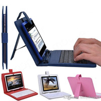Wholesale Cases For 7inch Tablets - SHa 2015 Optional Universal keyboard Micro USB Flip Protective Cover Tablet Leather Case For HP Slate 7 7inch Case A-JP