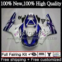 triumph 675 carénage bleu blanc achat en gros de-Body For Triumph Daytona 675 02 03 04 04 06 06 07 08 7PG5 Daytona 675 bleu blanc