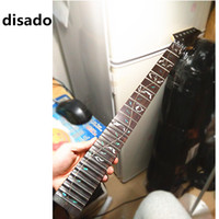 Wholesale Guitar Neck Rosewood Fingerboard - disado 21 22 24 Frets wholesales maple Electric Guitar Neck rosewood fingerboard inlay tree of lifes Guitar parts accessories