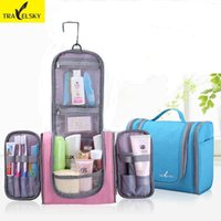 TRAVELSKY Fashion Makeup Bag WomenMen Large Wash Wash Bag Travel Toilet Hanging Waterproof Cosmetic Case 13549
