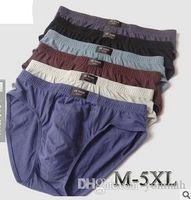 venda de homens de biquíni venda por atacado-Atacado-Sexy Men Underwear Venda Direta Da Fábrica 4 pçs / lote 4XL 5XL Mens Breve Para 90 KG 100 KG Mens Bikini Algodão Cueca
