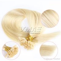 Straight Natural Color # 613 Rubio U Tip Extensiones de Cabello 1g / strand 100g 120g 140g 160g Virgen sin procesar VMAE Nail Tip Hair