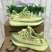 Wholesale Tinted Pvc - [Double Boxes Socks Receipt Keychain]Boost Sply 350 V2 Beluga 2.0 Semi Frozen Yellow B37572 Blue Tint Grey Running Shoes Sport Sneakers