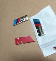 Wholesale Wholesale Bmw X6 - 4.5CM M Power Racing Side Fender Badge Decal Sticker M Logo Emblem for BMW X3 X5 X6 F10 F30 E60 E90 E36
