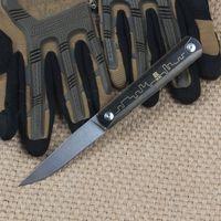 Wholesale Retro Knives - ZDP189 powder steel tactical folding knife titanium retro copper handle camping survival pocket knives outdoor hunting EDC tools