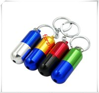 Wholesale Key Chain Tobacco Pipes - free shipping USA 63mm mini metel filter pipes capsule style key chain keyring smoking pipes tobacco pipes cigarette holder new filter pipes