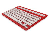 Wholesale Channel Business - Dual Channel Keyboard Bluetooth Wireless Keyboard for Smart Phone Tablet Laptop Business Use Fashion unisex light