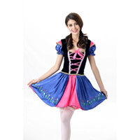 Wholesale Novelty Themes - New Novelty Women Theme Costumes Dress Bowknot French Wench Maid Costumes Princess Women Clothing Cosplay Halloween Fancy Dress A413014