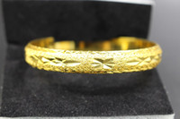 Wholesale Solid Hinges - Fayelight Solid 18K Yellow Gold Filled Women Wedding Bangle Hinged Bracelet Diameter 6cm 30G