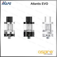 aspirar 2ml al por mayor-100% original Aspire Atlantis EVO Tank Flujo de aire inferior ajustable Versión estándar 2ml Versión extendida 4ml Relleno superior con Atlantis EVO Bobina