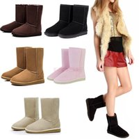 Wholesale Cheap Black Sexy Heels - Cheap In Stock Half Boots 5 Colors Winter Snow Boots sexy christmas gift womens snow boots Winter warm Boots cotton padded shoes