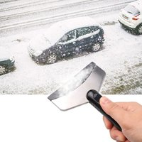 Wholesale Ice Cleaning - Stainless Snow Shovel Scraper Removal Clean Tool Winter Car Clean Snow Helper Ice Remove Tool Wholesale