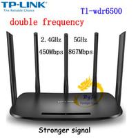 roteador ac venda por atacado-Tp-link Sem Fio Wifi Router Ac Tl-wdr6500 1300 mbps 2.4 ghz + 5ghz 802.11ac / b / n / g / a / 3 / 3u / 3ab para a Família / soho