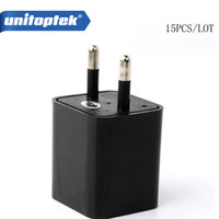 15pcs / lot 8GB Mini 1080P USB Spy Camera Adaptador AC USB Wall Charger Camcorder DV Vigilância Câmera escondida