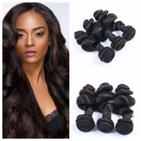 Wholesale free black hair products - G-EASY Hair Products Peruvian Human Hair Loose Curly Natural Black Human Hair Weave bundles 8-30inch 3pcs lot Free Shipping